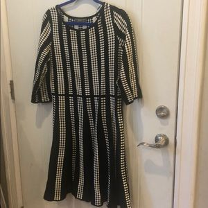 Black and White Sweater Dress Sz XL